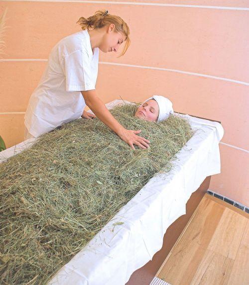 Hay Bath By Tradition Of The Alpe Di Siusi Plateau