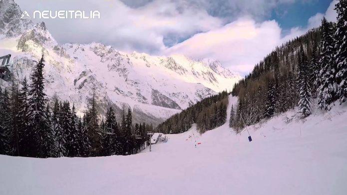 Courmayer, la Pista Internazionale collega Plan Checrouit alla Val Veny