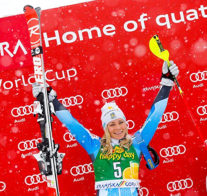 L'eterna seconda ce l'ha fatta: Frida Hansdotter vince lo slalom di Kranjska Gora! Ottava Chiara Costazza