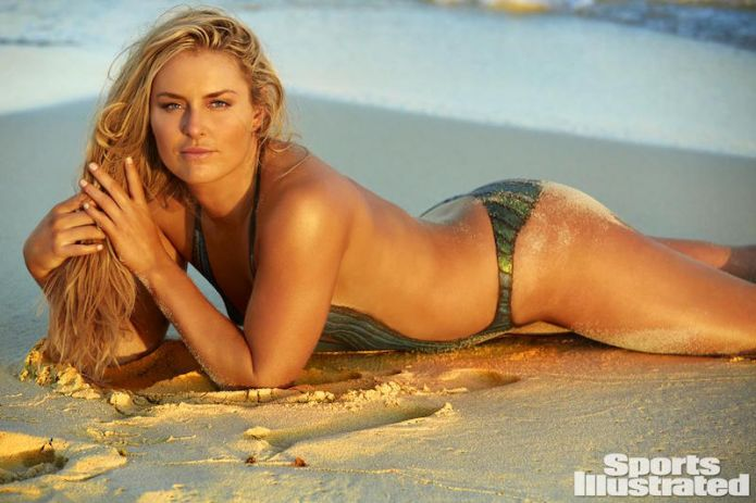 Lindsay vonn downhill skier bikini