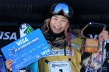 Successes Chloe Kim and Matthew Ladley in halfpipe at Park City World Cup