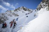 At the start in the Principality of Andorra the ski mountaineering World Cup