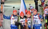 The Czech Republic won the 'gold in the medley relay, the opening race of the World Championships in Kontiolahti. Italy 7 ^