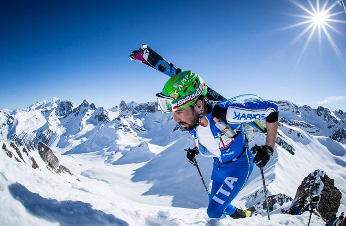 Robert Antonioli medaglia d'argento nella Vertical Race dei mondiali di Villars Sur Ollon