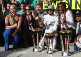 Absent Slden Lindsey Vonn celebrates in Formula 1 with Hamilton and Reb Bull